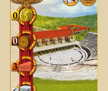"Card Layout, icons and illustrations for ""Provincia Romana"""