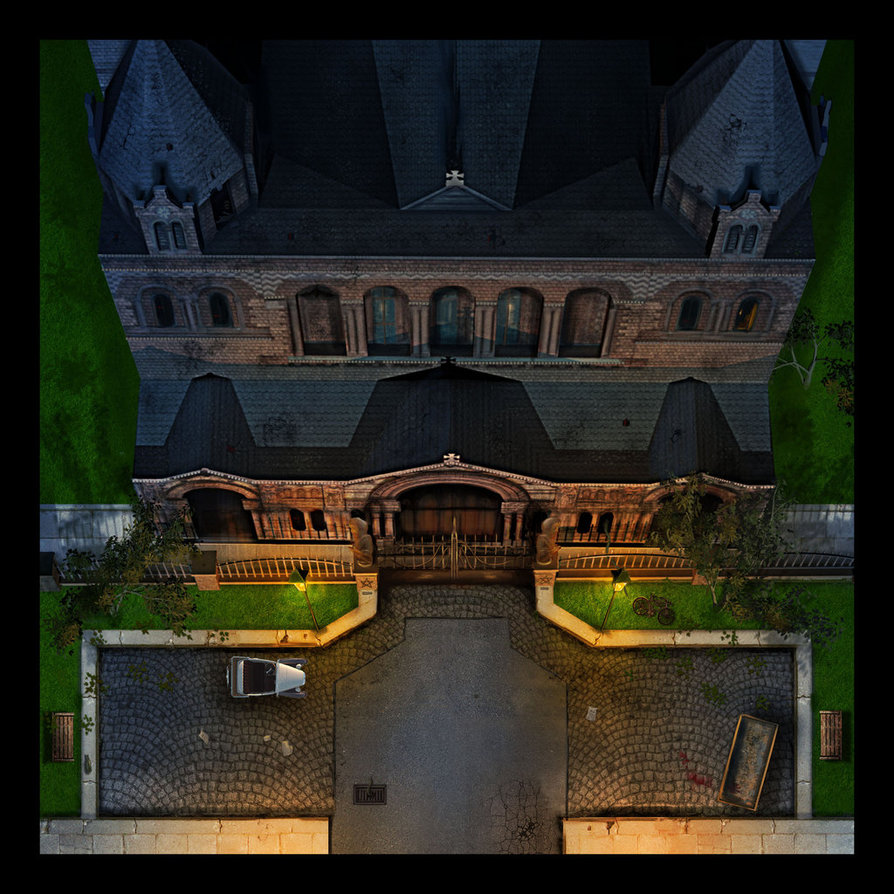 Church tile for boardgame